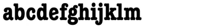 ITC American Typewriter Bold Condensed Alternate Font LOWERCASE
