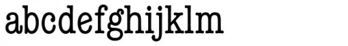 ITC American Typewriter Condensed Alternate Font LOWERCASE