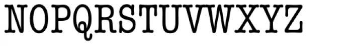 ITC American Typewriter Condensed Font UPPERCASE