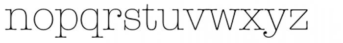 ITC American Typewriter Light Alternate Font LOWERCASE