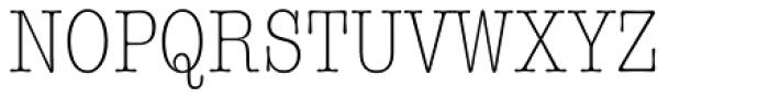ITC American Typewriter Light Condensed Font UPPERCASE