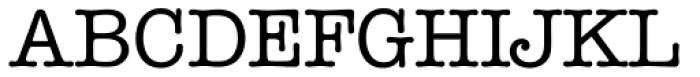 ITC American Typewriter Medium Font UPPERCASE