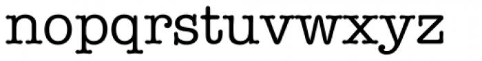 ITC American Typewriter Medium Font LOWERCASE