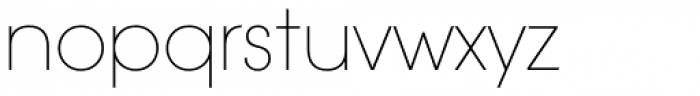 ITC Avant Garde Gothic Paneuropean Extra Light Font LOWERCASE