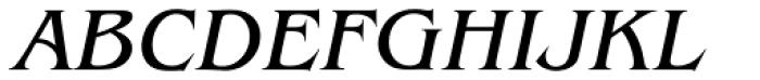 ITC Benguiat Std Book Italic Font UPPERCASE