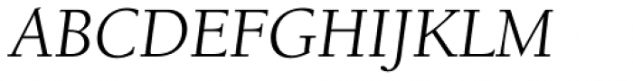 ITC Berkeley Old Style Pro Book Italic Font UPPERCASE