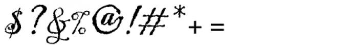 ITC Blackadder Font OTHER CHARS