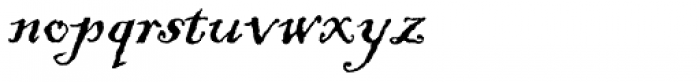ITC Blackadder Font LOWERCASE