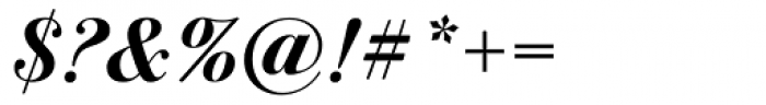 ITC Bodoni Seventytwo Bold Italic OS Font OTHER CHARS