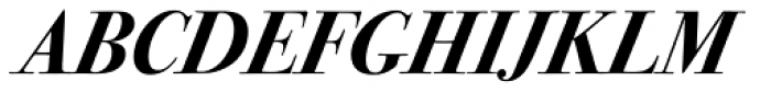 ITC Bodoni Seventytwo Bold Italic Font UPPERCASE