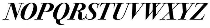 ITC Bodoni Seventytwo Std Bold Italic Font UPPERCASE
