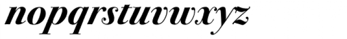 ITC Bodoni Seventytwo Std Bold Italic Font LOWERCASE