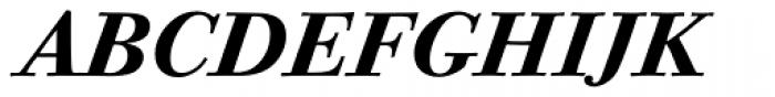 ITC Bodoni Twelve Bold Italic OS Font UPPERCASE