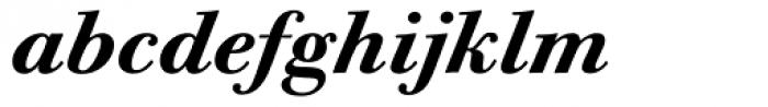 ITC Bodoni Twelve Bold Italic OS Font LOWERCASE