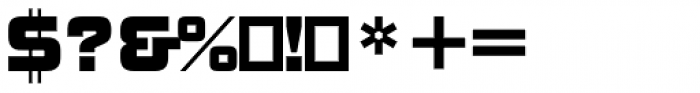 ITC Bolt Std Regular Font OTHER CHARS
