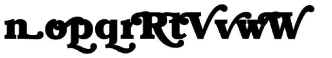 ITC Bookman Swash Bold Font LOWERCASE