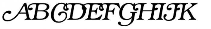 ITC Bookman Swash Light Italic Font UPPERCASE