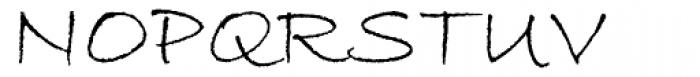 ITC Bradley Hand Font UPPERCASE