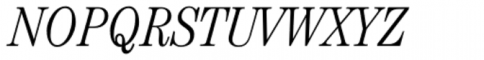 ITC Century Cond Light Italic Font UPPERCASE