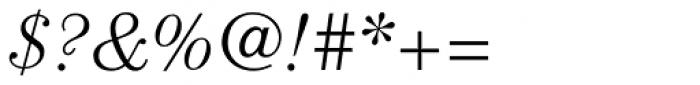 ITC Century Std Light Italic Font OTHER CHARS