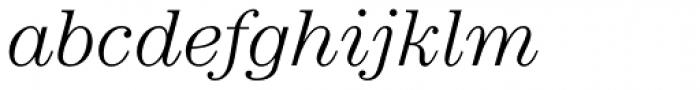 ITC Century Std Light Italic Font LOWERCASE
