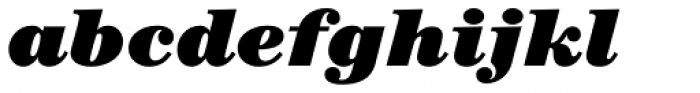 ITC Century Std Ultra Italic Font LOWERCASE