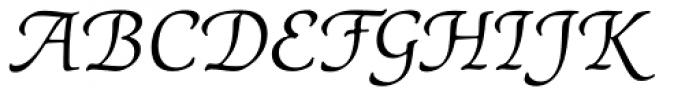 ITC Cerigo Book SwCap Italic Font UPPERCASE