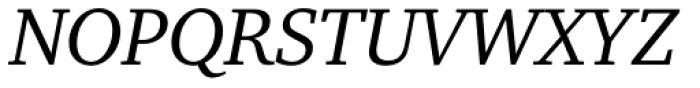 ITC Charter Italic OS Font UPPERCASE