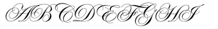 ITC Edwardian Script Regular Font UPPERCASE