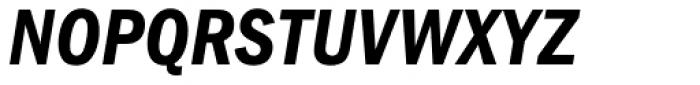 ITC Franklin Gothic Condensed Demi Italic Font UPPERCASE