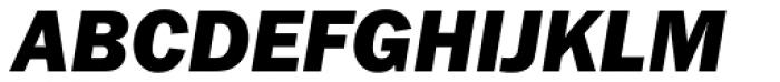 ITC Franklin Gothic Heavy Italic Font UPPERCASE
