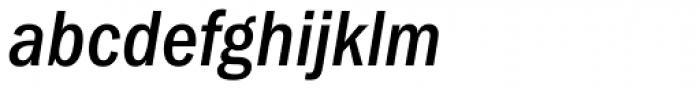 ITC Franklin Gothic Medium Condensed Italic Font LOWERCASE