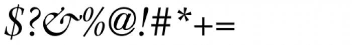 ITC Galliard Pro Italic Font OTHER CHARS