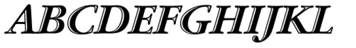 ITC Garamond Handtooled OS Italic Font UPPERCASE