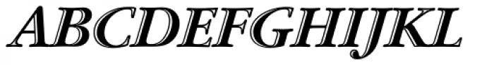 ITC Garamond Handtooled Std Bold Italic Font UPPERCASE