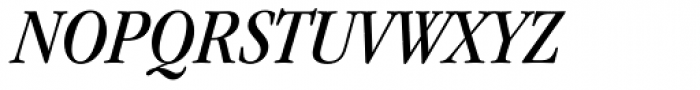 ITC Garamond Narrow Book Italic Font UPPERCASE
