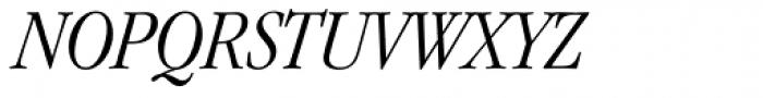 ITC Garamond Narrow Light Italic Font UPPERCASE