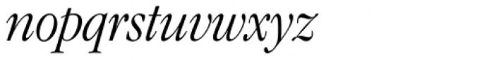 ITC Garamond Narrow Light Italic Font LOWERCASE
