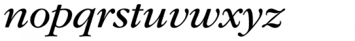 ITC Garamond Std Book Italic Font LOWERCASE