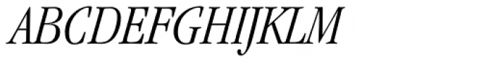 ITC Garamond Std Light Condensed Italic Font UPPERCASE