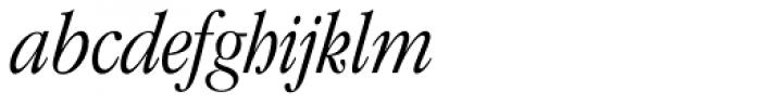 ITC Garamond Std Light Condensed Italic Font LOWERCASE