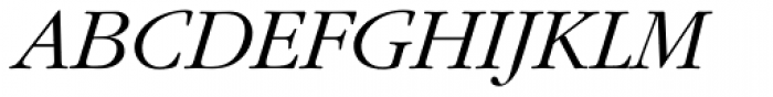 ITC Garamond Std Light Italic Font UPPERCASE