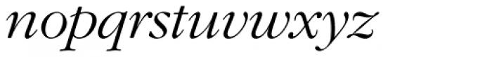 ITC Garamond Std Light Italic Font LOWERCASE