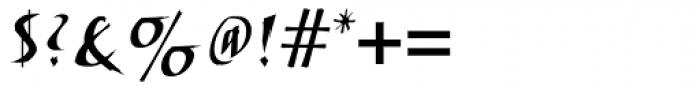 ITC Humana Script Bold Font OTHER CHARS