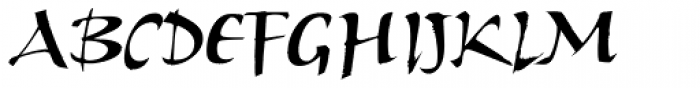 ITC Humana Script Bold Font UPPERCASE