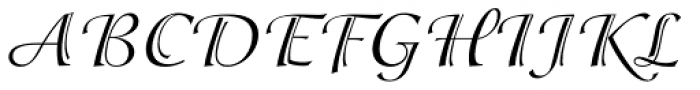 ITC Isadora Regular Font UPPERCASE