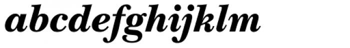 ITC New Baskerville Black Italic Font LOWERCASE