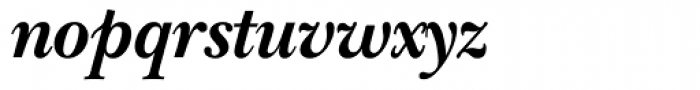 ITC New Baskerville Bold Italic Font LOWERCASE