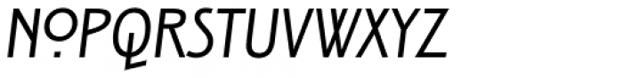 ITC New Rennie Mackintosh Italic Font UPPERCASE