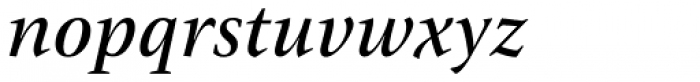 ITC New Veljovic Pro Medium It Font LOWERCASE